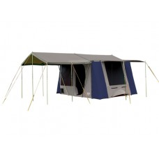 Coleman Milford Canvas Tent and Pole Set-Stone and Navy colour  EX DEMO  plus free sunroom valued at $699.99 (beige and Khaki)